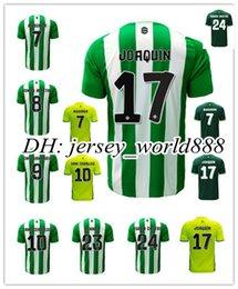 Wholesale Top Thai quality Real Betis home Soccer Jersey Rugby JOAQUIN VAN DER VAART RUBEN CASTRO away Football Shirts Camiseta de futbol