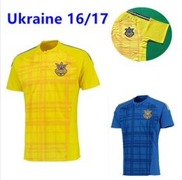 Wholesale 2016 Ukraine Football team Jersey Ukraine yellow Home Soccer Jersey EURO CUP Ukraine football Anatoly Anatoliy Tymoschuk