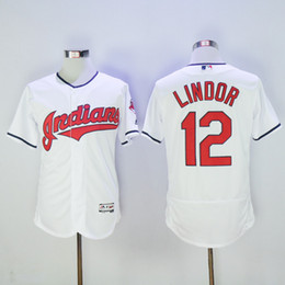 Wholesale Cheap Uniform Shirts For Men - Indians #12 Francisco Lindor Baseball Jerseys Top Selling 2016 Cheap Baseball Shirts Men Baseball Uniform Stitched Baseball Wears for Sale
