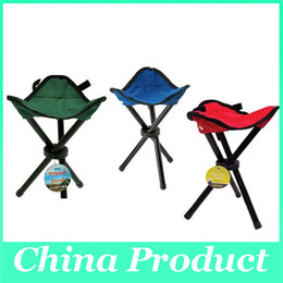 Wholesale Folding Outdoor Camping Hiking Fishing Picnic Garden BBQ Stool Tripod Chair Seats With Leg Stool