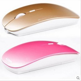 Silent mute rechargeable wireless gaming mouse ultra-thin fashion computer accessories of the mouse