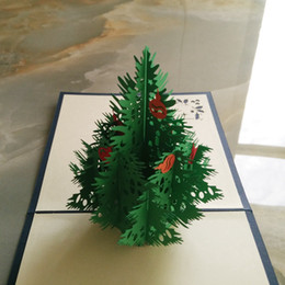 DHL Free Shipping 5 Items per Lot 3D POP UP Handmade Xmas  Gift  Greeting Card with Christmas Tree & Snow Man Decoration