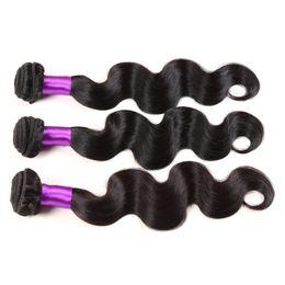 2017 22 pouces extensions de cheveux longueur 100% de longueur 7A Virgin Brazilian Hair Reine Produits pour les Cheveux Body Extension Vague Mix Natural Hair Tissages Trame 8 à 28 pouces Derun cheveux 22 pouces extensions de cheveux longueur sur la vente