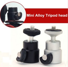 Wholesale tripod head camera mount accessory adapter parts mini metal ball head tripod stand inch thread spigot head Camera Flash Hot Shoe Adaptor