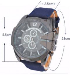 La montre-bracelet pour hommes à vendre-Montre Homme Sport Cowboy V6 montres pour hommes Quartz militaire Montre analogique en cuir Casual cadeau Fashion For Boyfriend