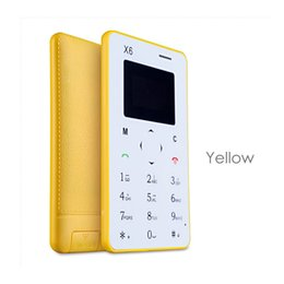 Wholesale New arrival Ultra Thin AIEK AEKU X6 Mini Cell Card Phone slim thin phone Student unlocked small mobile phone pocket phone M5