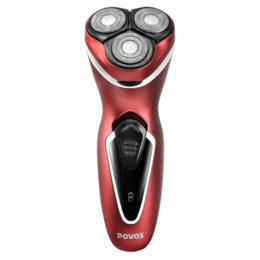 Promotion rasoirs rechargeables imperméables pour les hommes Povos rechargeable Hommes Triple lame Design ergonomique Rasoirs Rasoir électrique remplaçable étanche avec Pop-up Trimmer PW751R