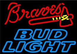"""Bud Light Hammer Browes Neon Sign Handcrafted Real Glass Tube Neon Light Sign Beer Bar KTV Club Disco Advertisement Sign Display 24""""x20"""""""