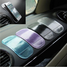 Wholesale 1000PCS Non Slip Car Sticky Anti Slip Mat Automobiles Interior Accessories Magic Sticky Pad for Mobile Phone GPS Mp4 Pad DHL free