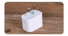 Wholesale 5V A Australian New Zealand AU Plug USB Charger AC Plug Power Adapter For ipad mini For iphone S C