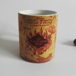 Harry map mugs Marauders Map morphing tea mug novelty heat changing color transforming Coffee mug Cups New Design