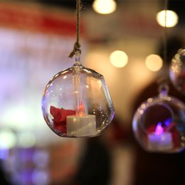 Wholesale European and American Pop Transparent Acrylic Hanging Ball For Wedding Site Layout Props Christmas Decoration Supplies