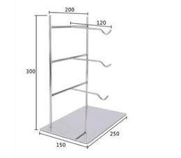 Promotion supports métalliques pour le verre Crochet porte-lunettes porte-vitrine tournante étagère verre avec KT affichette clip clip métal noir blanc support d'affichage Porte-lunettes