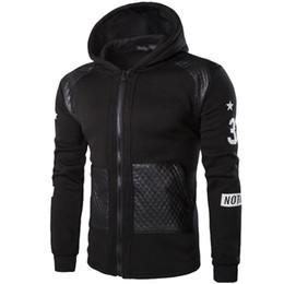 Wholesale 2016 Winter Warm Coat Patchwork Pocket Zippers Pu Leather Jacket for Men tx1911