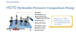 Wholesale Table top Manual Hydraulic High Pressure Calibration Pump with sliding block structure three outputs and f adjust valve to generate pressure