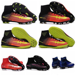 Mercurial Superfly V FG AG Socce Soccer Boots MercurialX Proximo II TF IC Soccer Cleats Hypervenom Phantom 2 Soccer Shoes Superflys Magistas