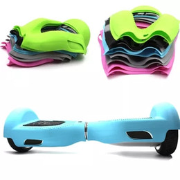 Wholesale 6 inch Hoverboard Electric Scooter Protective Silicone Case Self Smart Balance Scooter Wheels Colors Silicone Skin Case Cover DHL