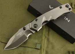 Drop shipping VULCAN Survival Tactical folding knife 7Cr17Mov 58HRC Titanium blade EDC pocket folding knives outdoor rescue knife