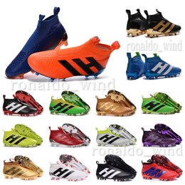 Wholesale New oriGINal mens high ankle football boots for men AcE PUrECOntROl FG soccer shoes outdoor PUrE COntROl NSG soccer cleats