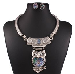 Wholesale 2016 Amazing Value Jewelry Earings Set Kit of Classic Style Necklaces With Cute Owls Pendants On Chains In Silver Color Christmas
