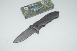 STRIDER 313B 3Cr13 56Hrc Full Titanium Coating Drop point Blade Stainless Steel handle Survival pocket outdoor knife knives