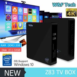 Wholesale Z83 Smart Mini PC Intel Atom x5 Z8300 Processor Bluetooth Intel TV Box Intel Core Windows10