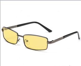 Wholesale 2016 NEW Fashion Men s Women s black frame glass len Band Polarized Sunglasses for men Hot Selling sunglasses driving Small glasses light