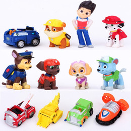 Wholesale 10pcs Paw Deluxe Mini Figure Toy Set with Ryder Marshall Chase Skye Rubble Rocky Zuma And Pup House Vehicles Patrol Figures set of