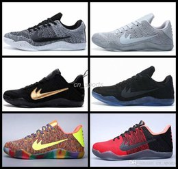 Wholesale 2016 Kobe XI Elite Low Men Basketball Shoes Black Blue Oreo High Quality Sneakers Retro s Mens Trainers Athletic Shoes Eur