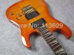 Wholesale Neck Thru Body Electric Guitar Licensed Floyd Rose Bridge Artec Pickups Original ACEPRO Guitar Sample
