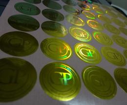 Des étiquettes en feuille imprimées en Ligne-15000 pièces / set! feuille impression d'autocollant personnalisé 3D hologramme d'or de l'étiquette, la conception libre! annuler si elle est expulsée