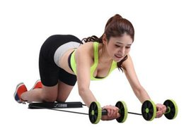 Wholesale Multifunction Abdominal Wheel Ab Roller With Mat For Exercise Gym Resistance Bands Pull Rope Fashion Body Building Fitness Equipment