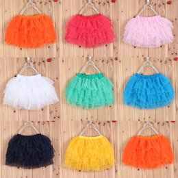 Wholesale candy color kids tutu skirt dance dresses soft tutu dress ballet skirt layers children pettiskirt baby clothes bulk price