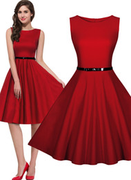 Free shipping Women's 1950's Rockabilly Vintage Evening Party Dresses Swing Skater Ball Gown Sleeveless Elegant 3244