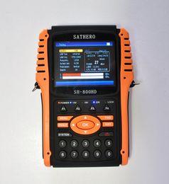 Sathero SH-800HD Medidor de localizador de satélite digital DVB-S2 SH-800 USB2.0 Salida de HDMI Buscador de satélite HD con analizador de espectro desde buscador hd sathero proveedores