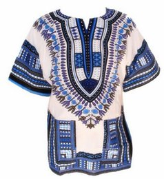 Wholesale Dashiki New African Clothing Traditional Print African Bazin Riche Clothes Dashiki T shirt For Men Women