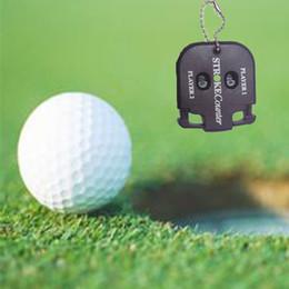 Golf Shot Stroke Score Counter Keeper Golfing with Key Chain Black Golf Score Counter