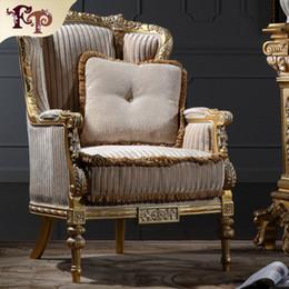 Italian living room furniture-classic wood furniture-royal furniture french style furniture manufacturer- one person sofa Free shipping