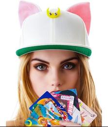 The new sailor moon luna lovely cat ears flat along the hip-hop cap baseball caps wholesale Snapback hat