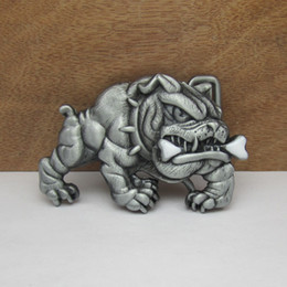 BuckleHome animal dog belt buckle with pewter finish plating FP-02211 with continous stock free shipping