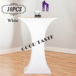 10PC Lot New Dry Bar Cocktail Table Cover High Quality Polyester Spandex Stretch Highboy Table Cloth for Cocktail Table Covering of wedding