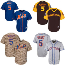 Wholesale Youth David Wright Jersey New York Mets Jersey Embroidery logo Cool Base Authentic Baseball Jerseys S XL