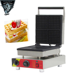 Wholesale Popular snack equipment commercial cast iron V electric mini square belgian waffle maker waffle machine with CE
