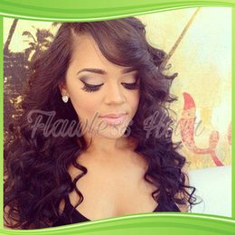 virgin hair glueless full lace wigs long body deep wave lace front wig full lace human hair wig for black women