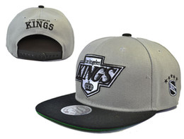Wholesale top Sale new Men s Los Angeles Kings Snapback Hat Team Logo Embroidery Sports Adjustable LA Hockey Caps Vintage Leather Visor Strap back Hat