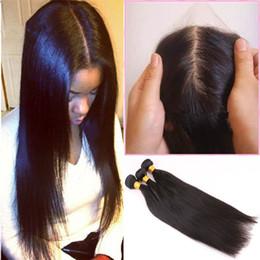 8A silk base closure with bundles straight hair products with closure peruvian human hair straight bundles with silk base closure