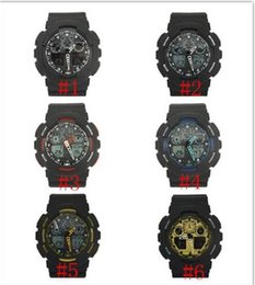 Wholesale new arrivel fashion colorful silicone sports g ga110 watch Double movement LED watch can choose color