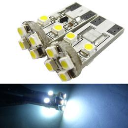 LEEWA 50pcs White T10 168 194 Wedge 8LED 3528 1210 8SMD Canbus No-Error Car LED Light Bulbs SKU#:2642