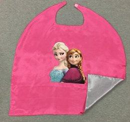 Promotion anna manteau gelé Nouvelle marque Kids Kids super-héros capes Enfants Cosplay Cloak Frozen Anna Elsa pour fête Halloween Noël 70cm Festive Party Supplies satin