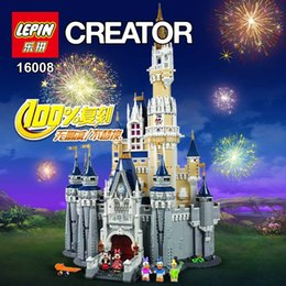 Wholesale Presale LEPIN Cinderella Princess Castle Model Building Kits Minifigures Block Bricks Toys